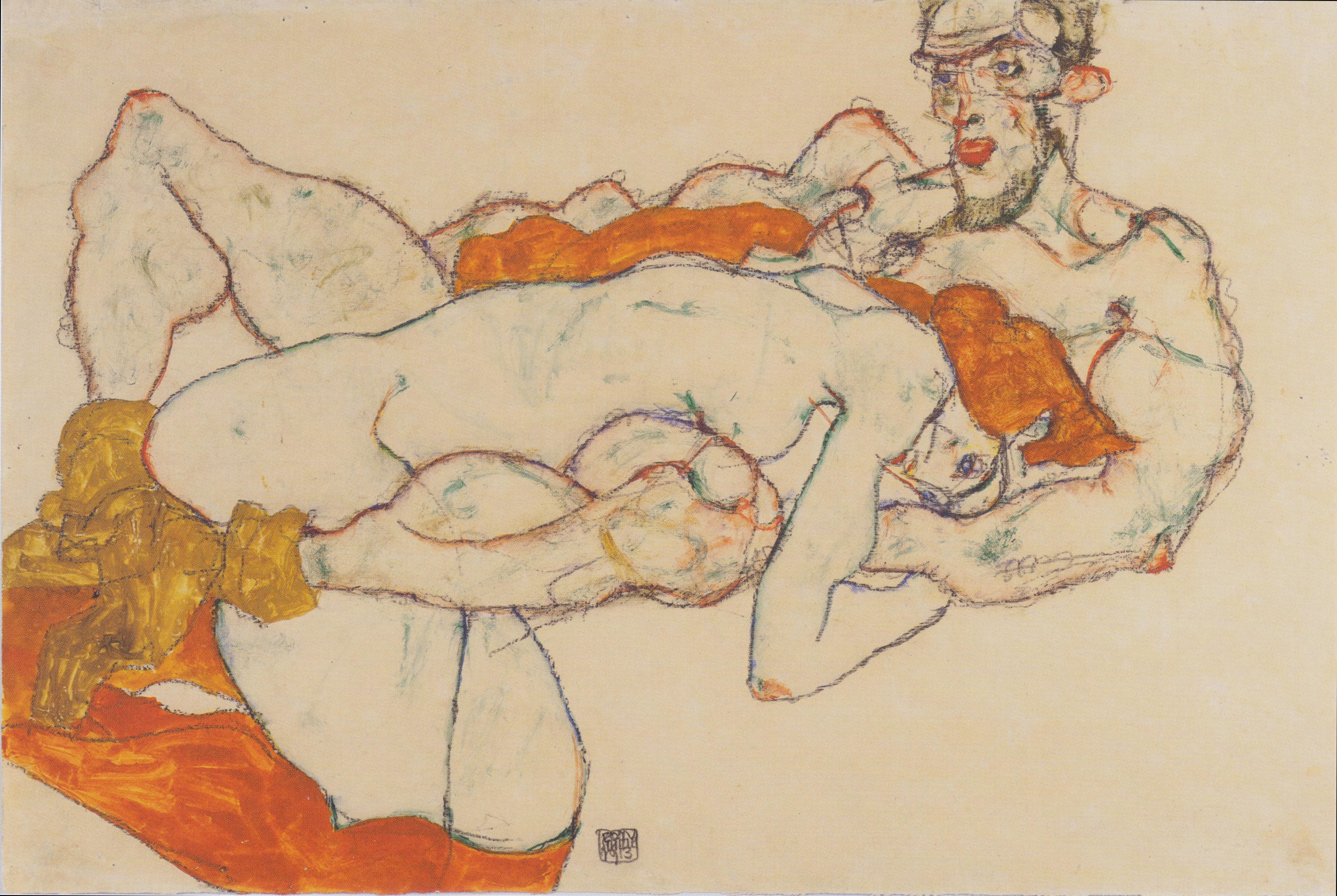 Egon_Schiele_-_Liebespaar_-_1913